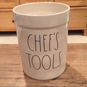 "Rae Dunn ceramic ""Chef's Tools"" caddy"